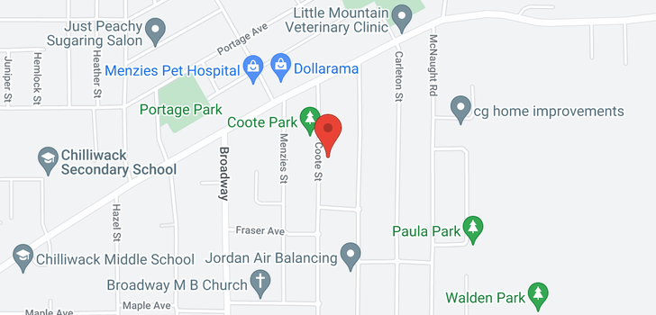 map of 9624 COOTE STREET