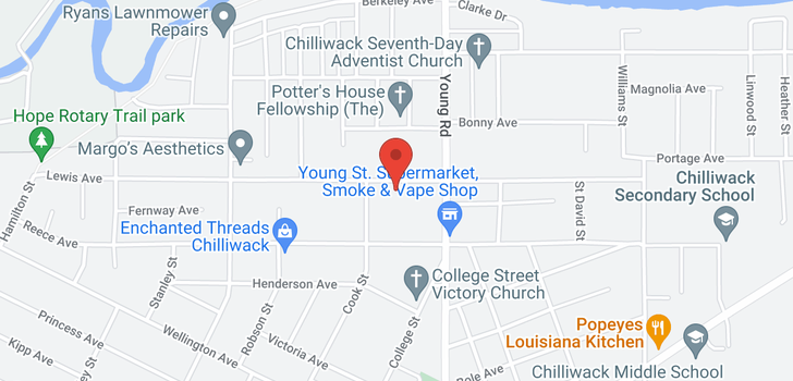 map of 210 45900 LEWIS AVENUE