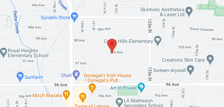 map of 12186 97A AVENUE
