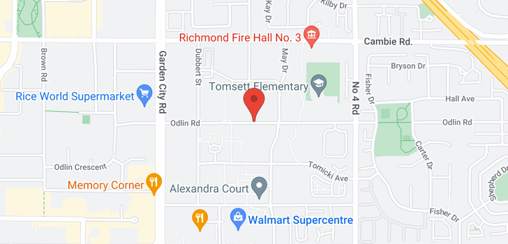 map of 135 9399 ODLIN ROAD