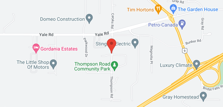 map of 10029 THOMPSON ROAD