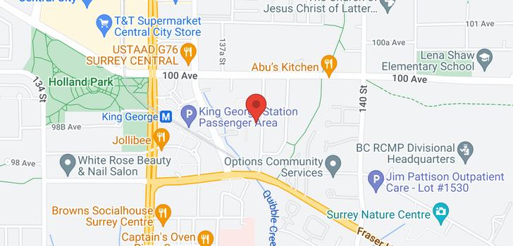map of 9907 138 STREET