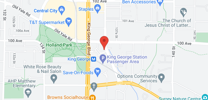 map of 2309 9981 WHALLEY BOULEVARD