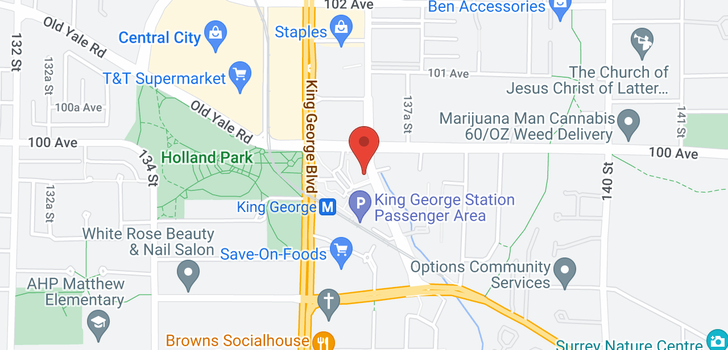 map of 909 9981 WHALLEY BOULEVARD
