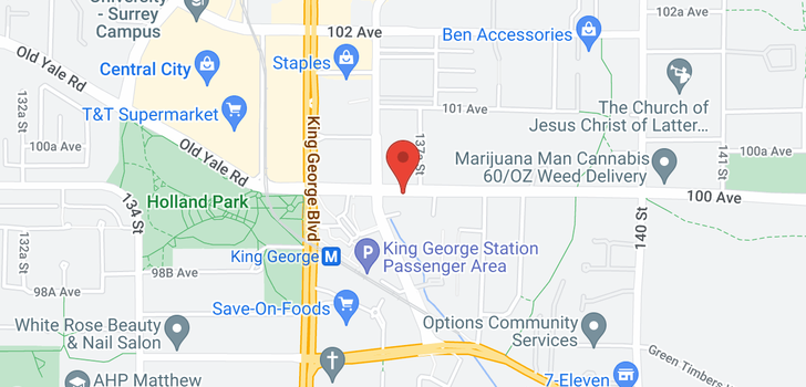 map of 2909 13696 100 AVENUE