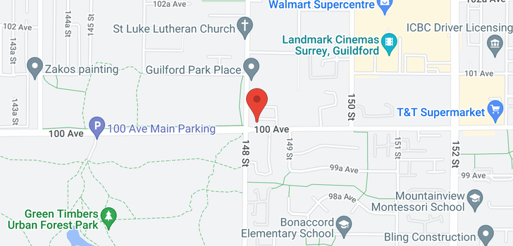map of 39 14855 100 AVENUE