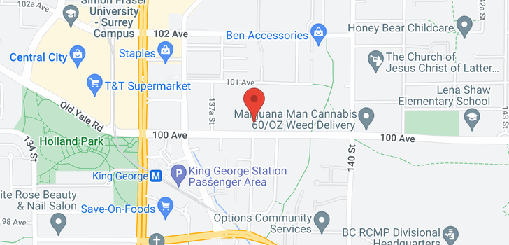 map of 2205 13819 100 AVENUE