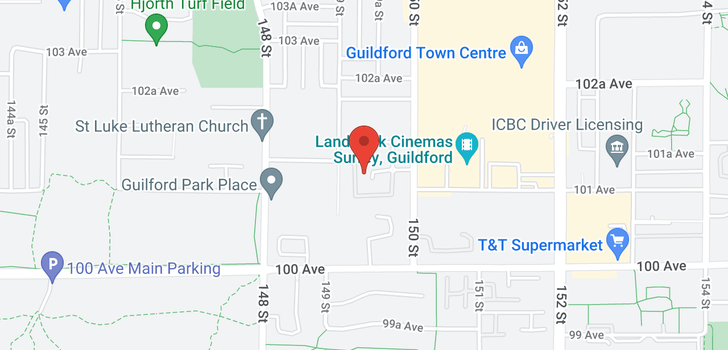map of 419 14968 101A AVENUE
