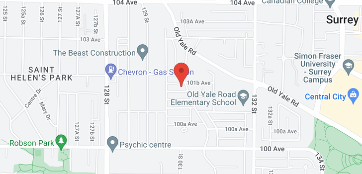 map of 13019 101A AVENUE