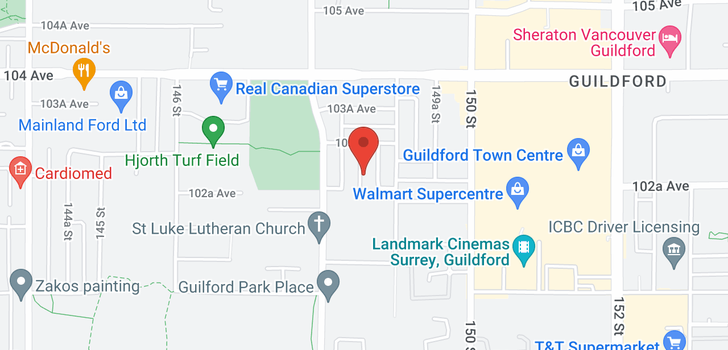 map of 10262 148A STREET
