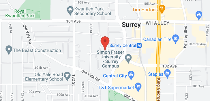 map of 210 13339 102A AVENUE
