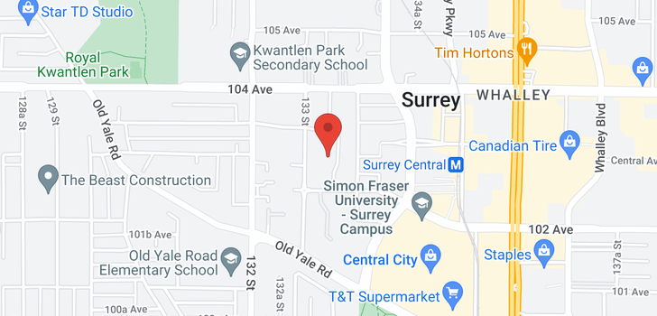 map of 3507 13325 102A AVENUE