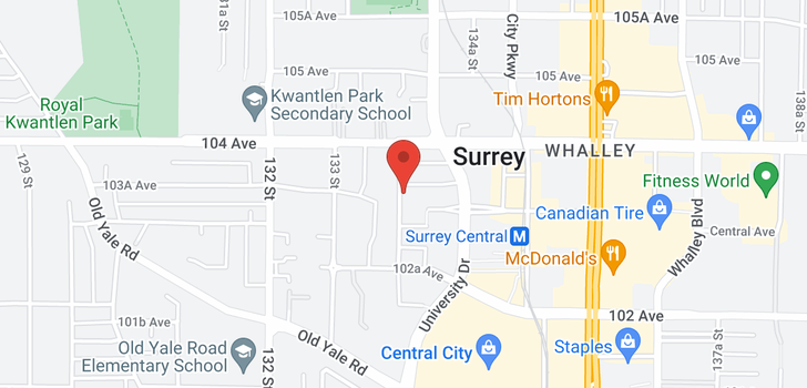 map of 1810 13308 103A AVENUE