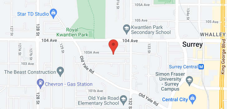 map of 13124 103A AVENUE