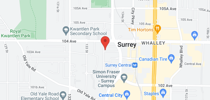 map of 1206 13303 103A AVENUE