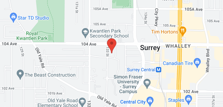 map of 1802 13303 CENTRAL AVENUE