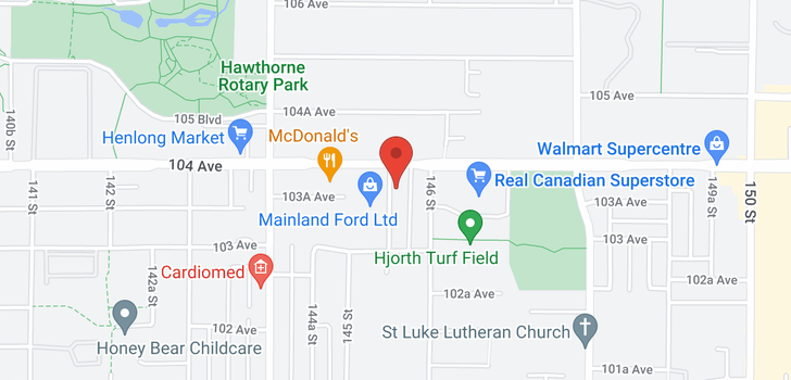 map of 10356 145A STREET