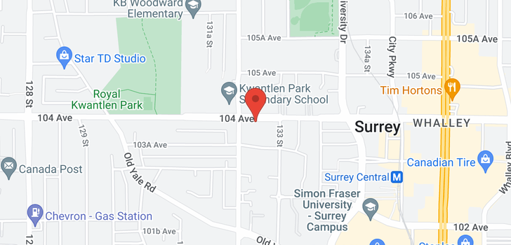 map of 104 13226 104 AVENUE