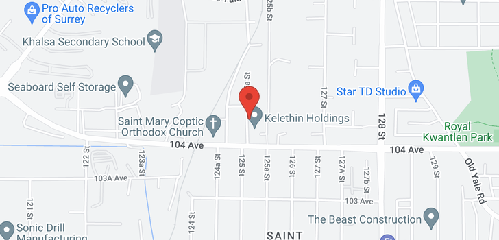map of 10456 125A STREET