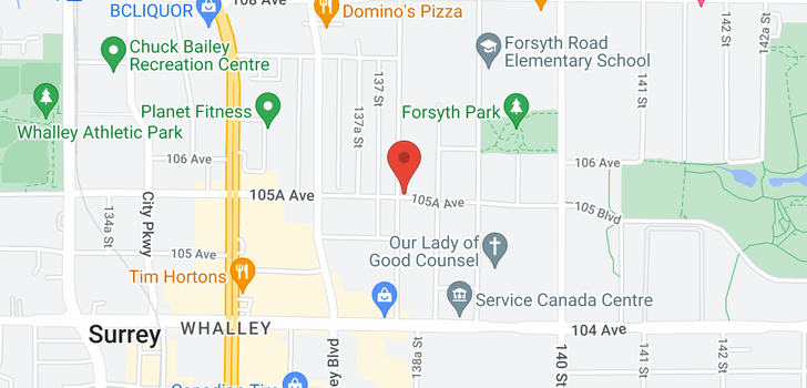 map of 314 13929 105A AVENUE