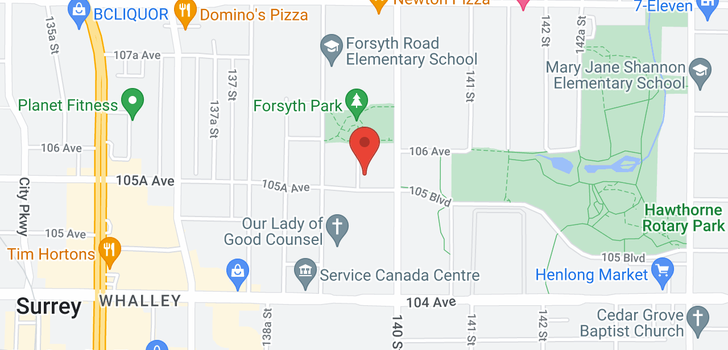map of 324 13963 105A AVENUE