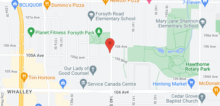 map of 510 10581 140TH STREET