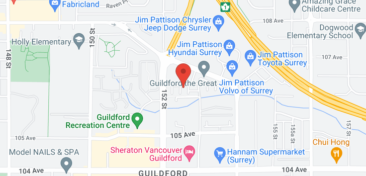 map of 134 15230 GUILDFORD DRIVE