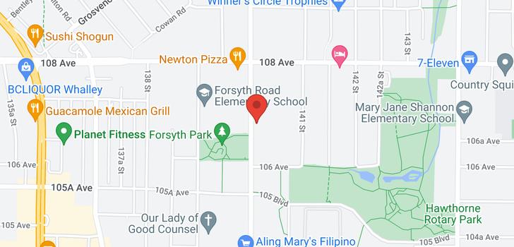 map of 314 10688 140 STREET