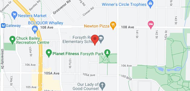 map of 127 10707 139 STREET