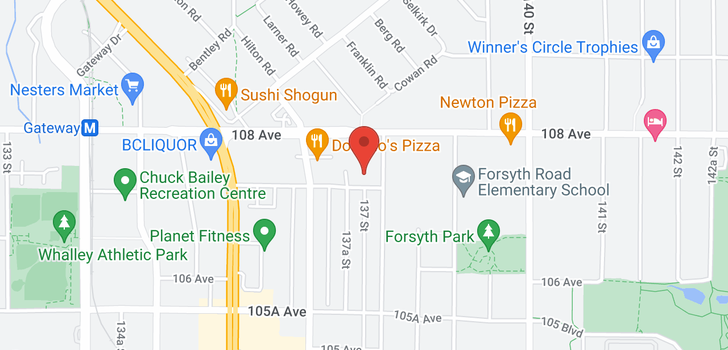 map of 310 13789 107A AVENUE