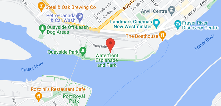 map of 308 1150 QUAYSIDE DRIVE
