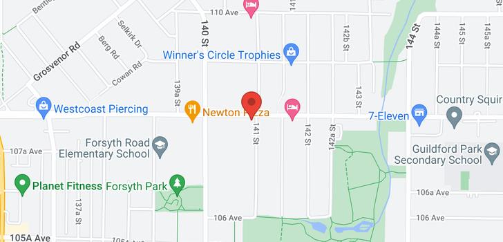 map of 10787 141 STREET