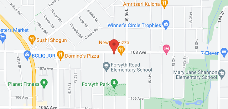 map of 109 13958 108 AVENUE
