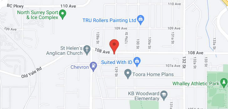 map of 12906 108 AVENUE