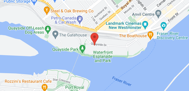 map of 102A 1220 QUAYSIDE DRIVE