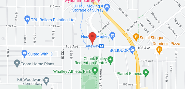 map of 1802 13353 108 AVENUE