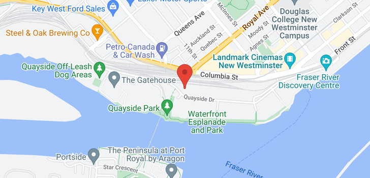 map of 1505 1245 QUAYSIDE DRIVE
