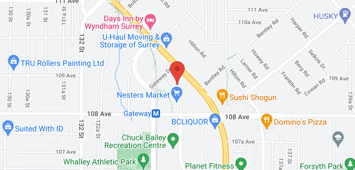 map of 209 10866 CITY PARKWAY
