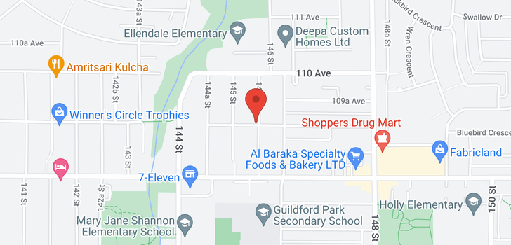 map of 10919 145A STREET