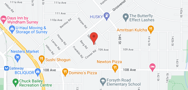map of 13868 SELKIRK DRIVE