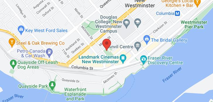 map of 1003 838 AGNES STREET