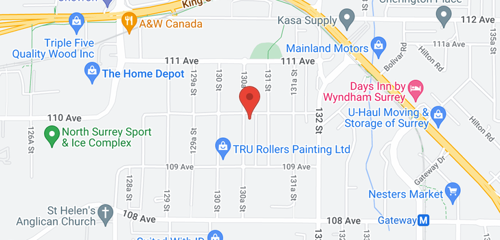 map of 10988 130A STREET