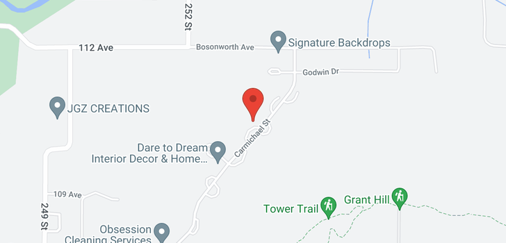 map of 11115 CARMICHAEL STREET