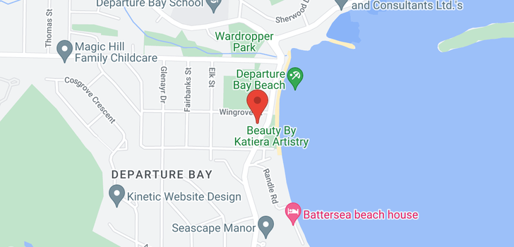 map of 2755 DEPARTURE BAY ROAD