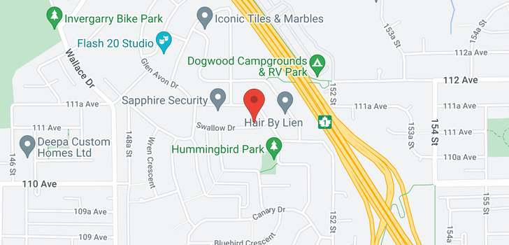 map of 15055 SWALLOW DRIVE