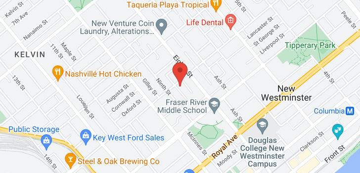 map of 812 THIRD AVENUE