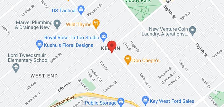 map of 105 580 TWELFTH STREET