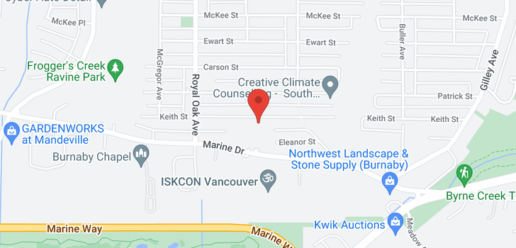 map of 5436 KEITH STREET