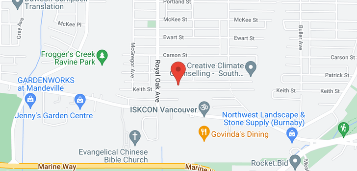 map of 5309 KEITH STREET