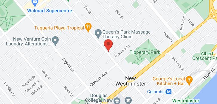 map of 206 225 SIXTH STREET